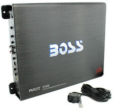BOSS R3400D Riot 3400W Mono Block Class D Car Audio Power Amplifier Amp + Remote