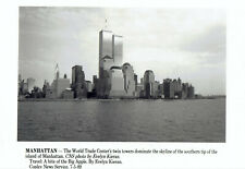 1989 Vintage Photo World Trade Center's Twin Towers in Manhattan New York City