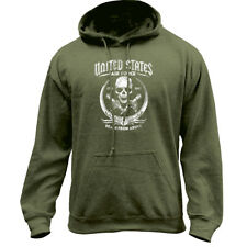Death From Above Air Force Skull Hoodie