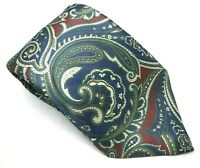 "Paco Rabanne Men's Tie Paisley Blue 100% Silk 3.75"" Width 59"" Length"