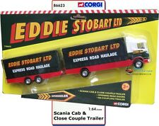 Eddie Stobart. Corgi 86623 Eddie Stobart Scania Cab & Close Couple Trailer