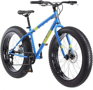 Mens Fat Tire Mountain Bike Light Blue 26 Inch Wheels Mongoose Dolomite 7 Speed