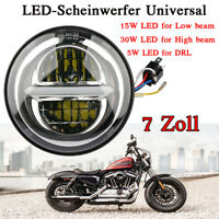 7 Zoll  50w LED Projektion Scheinwerfer Hi/Low Beam für Harley  Jeep Wrangler