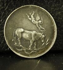 Médaille 17g 35 mm char SG avers ange couronnant un cheval medal bronze argenté