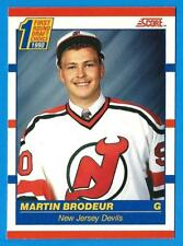 1990-91 Score Canadian MARTIN BRODEUR (ex+) New Jersey Devils Rookie (E)