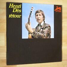 Vinyle 33 tours Henry Dès - Retour - Evasion Disques LP E 108 Signé Autographe!
