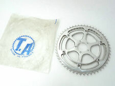 "TA Chainring Set double with 5pin Crankset adapter 52/47T 3/32"" Vintage NOS"