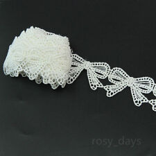 """Lily 1/"""" Ivory Bridal Accessory DIY Venice Lace Trim Bow and Grapes Sold by Yard"""