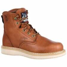 Georgia Boots Wedge Lace Up Work s  Casual   Work & Safety - Tan - Mens