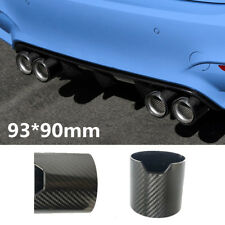 3.7*3.5Inch Glossy Carbon Fiber Car Exhaust Pipe Tip Cover Shell Resistant To UV