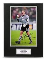 Oliver Kahn Signed 16x12 Photo Autograph Display Bayern Munich Memorabilia + COA