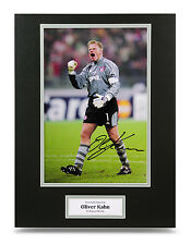 Oliver Kahn Signed 16x12 Photo Autograph Display Bayern Munich Memorabilia + COA