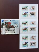 Canadian Stamp Booklet - 1999 46-Cent CANADIAN HORSES Pane of 12(UT 1795-1798)