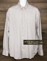 Peter Millar Summer Comfort Men's Multi-Color Long Sleeve Button Down Shirt XL