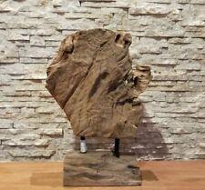 Teak Holz Skulptur Baumscheibe Statue Holzkunst Baum Deko Holzobjekt Ho.1953