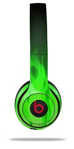 Skin Beats Solo 2 3 Fire Green Wireless Headphones NOT INCLUDED