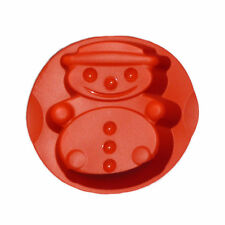 Tupperware Christmas Snowman Silicone Baking Form NEW Red Holiday Snow Man