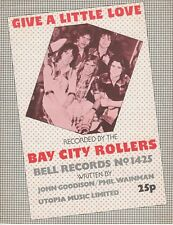 Give A Little Love - Bay City Rollers - 1975 Sheet Music
