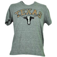 NCAA Texas Longhorns Mens Adult Felt Logo Tshirt Tee Gray Short Sleeve Sports