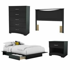 wooden full bedroom furniture sets with 4 pieces for sale ebay rh ebay com