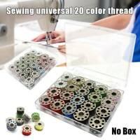 Metal Bobbins With 20 Colors Sewing Machine Thread Spools Yarn Sewing Spool Kit~