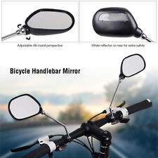 1Pair Bicycle Rear View Mirror Bike Handlebar Rear View Wide Range Back Sight US