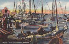 Postcard Sponge Fishing Boats Nassau Bahamas