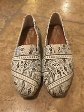 Brand New TOMS Shoes Natural Forest Tribal Size 6 Women