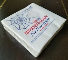 Spider-Man Far From Home Napkins from United Airlines movie unopened pack of 50