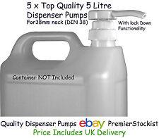 Quality Dispenser Pump 5 Litre 1 US Gal X 3 Oil Polish Soap Sauce Ketchup