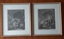 """William Hogarth """"Before and After"""" Engravings Pair, Victorian Era"""