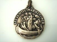 SUPERBE MEDAILLE SAINTE MARIE ET TAUROMACHIE 2 FACES VINTAGE 70 NEUF/NEW MEDAL