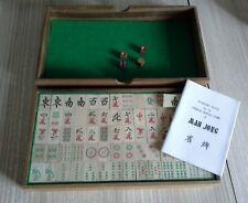 VINTAGE IN LEGNO mAh Jong in scatola di legno contenuto eccellente CDN