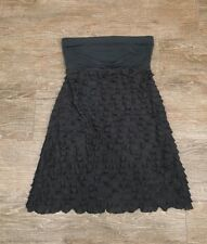 The Limited Dark/Charcoal Gray Strapless Ruffle Cocktail Dress Medium/M EUC