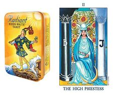 Radiant Rider Tarot Pocket in Tin Box NEW 78 recolored cards Rider Smith images