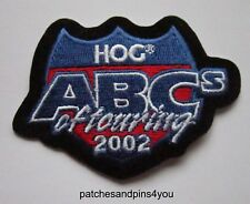 Harley Davidson HOG ABC's Of Touring 2002 Patch. NEW! FREE U.K. POSTAGE!