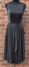 Asos Pleated Lurex with Open Back in Detail Vintage MIDI Skater Dress ......#*5