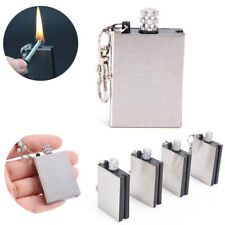 Fire Starter Capsule Flint Keychain Keyring Lighter Match NO Fuel Camping Too PD