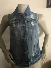 NEW WOMEN'S G by GUESS DENIM MOTO VEST SIZE MEDIUM!!!