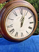 "Edinburgh Clock Works Co. London England Weathered Gold Bronze 17"" Wall Clock ❤️"