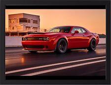 Vehicles Dodge Challenger SRT Demon Silk Poster Wallpaper 24 X 13 inch