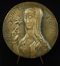 Médaille religieuse Vierge Virgin Ave Sancta Maria Je vous salue religious medal