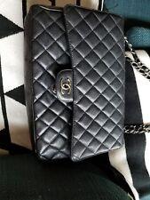 Authenticated!! CHANEL Classic XL JUMBO MaXi Black CAVIAR Single Flap Bag w/SHW
