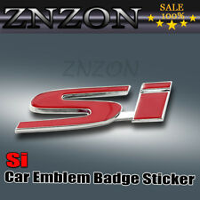 Red SI 3D Metal Logo Car Emblem Badge Sticker Decal Brand new