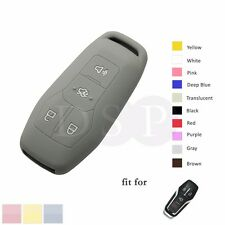 Silicone Cover fit for FORD Mustang Fusion Smart Remote Key Case 4 Buttons GY
