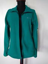 Womens COLUMBIA Full Zip 3-Pocket Fleece Jacket Coat Bluish-Green Medium EUC