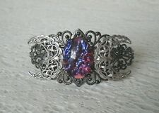 Dragons Breath Fire Opal Triple Moon Cuff Bracelet wiccan pagan witchcraft wicca