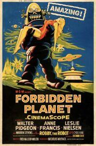FORBIDDEN PLANET (1956) Movie Cinema Poster Film Art Print