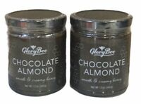 2 Pack GloryBee Chocolate Almond Smooth & Creamy Honey 12 ounce Jar(S1)