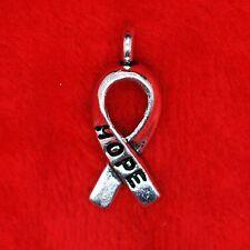 20 x Tibetan Silver Ribbon of Hope Charm Pendant Finding Bead Jewellery Making